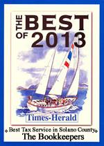 Voted Best Tax Service in Solano County in 2013